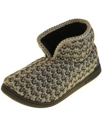 Dunlop Grau Kunstpelz Slipper Stiefel EU 45