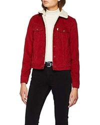 Levi's - Original Sherpa Trucker, Giacca in Jeans Donna - Lyst