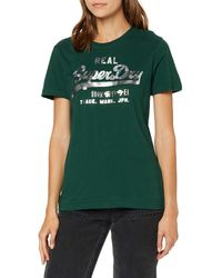 Superdry Vintage Logo Metalwork Entry Tee T-Shirt - Vert