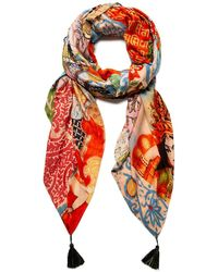 Desigual S FOUL_INDIAFAN Fashion Scarf - Orange