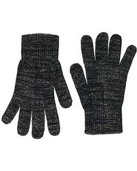 Dorothy Perkins Lurex Knitted Glove, Black (black 010), One Size (size:one)