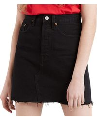 Levi's HR Decon Iconic BF Skirt Falda - Negro