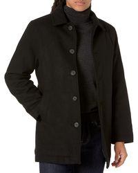 Amazon Essentials Wool Blend Heavyweight Car Coat Outerwear-Coats - Azul