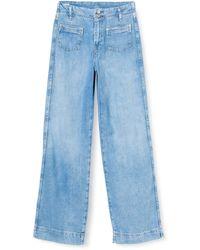 Pepe Jeans Straight Jeans Debbie - Blau