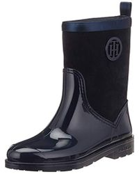 Tommy Hilfiger - Warmlined Suede Rain Boot Wellington - Lyst 8a3c47d2ad6