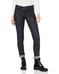 G-Star RAW Lynn Biker Mid Waist Skinny Jeans - Multicolore