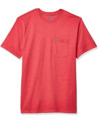 Izod Saltwater Short Sleeve Solid T-shirt With Pocket - Red