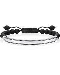 Thomas Sabo Argent Bracelet en corde LBA0129-811-11-L24v - Noir