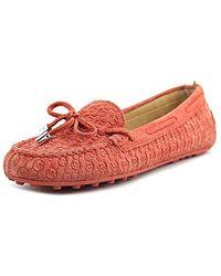 6509da07c7a86 Michael Daisy Moc Moc Toe Leather Loafer - Red