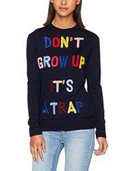 Love Moschino - Plain Stitch Intarsia Sweater_letters Sweatshirt - Lyst