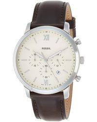 Fossil - Chronographe Quartz Montre avec Bracelet en Cuir FS5380 - Lyst