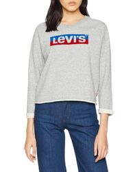 Levi's Levis Sweatshirt GRAPHIC GYM CREW - Grau