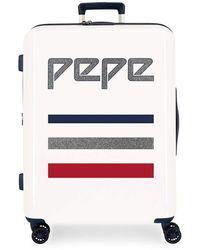 Pepe Jeans Taking Off Set di valigie 70 centimeters 119.4 Beige - Bianco