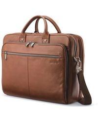 Samsonite Classic Leather Toploader Briefcase - Brown
