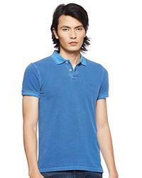 Wrangler S Overdye Pique Polo T-shirt - Blue