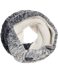 Superdry Clarrie Cable Snood Neck Gaiter One Size Denim Ombre - Blau