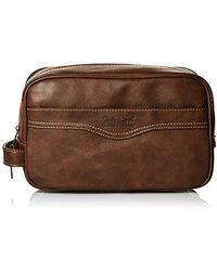 Levi's Waxed Canvas Hanging Travel Kit - Brown