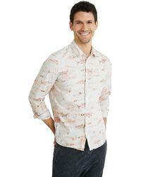 Desigual CAM_Fish Camisa Abotonada - Blanco