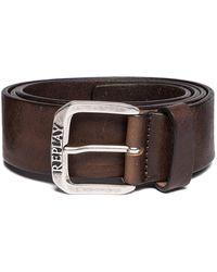 Replay Vintage Leather Belt - Brown