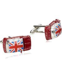 Geoffrey Beene British Car Cufflink - Metallic