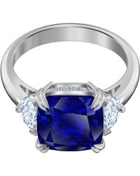 Swarovski Attract Cocktail Ring - Blau