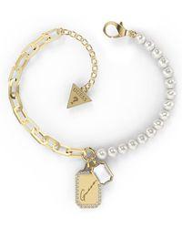 Guess Bracelet JEWELLERY CRYSTAL TAG JUBB01135JWYGS - Métallisé
