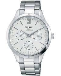 Seiko Pulsar donna-Orologio da polso al quarzo in acciaio inox PP6225X1 - Metallizzato