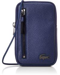 Lacoste Soft Mate Necklace Phone Wallet Sphere - Bleu
