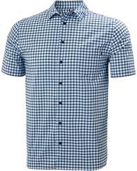 Helly Hansen Fjord Qd Short Sleeve T-Shirt - Blu