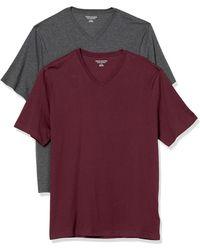 Amazon Essentials 2-pack Loose-fit V-neck T-shirt - Purple