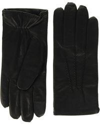 Tommy Hilfiger Flag Leather Gloves, - Black