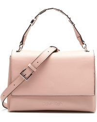 Calvin Klein Flap Shoulder Bag Dusty Rose - Pink
