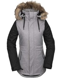 Volcom Fawn Insulated Snow Jacket - Gray