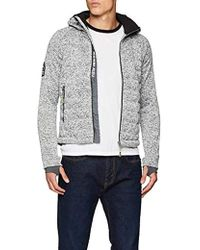 Superdry - Storm Quilted Ziphood, suéter para Hombre, Gris (Grey Granite Marl Vm3) X-Large - Lyst