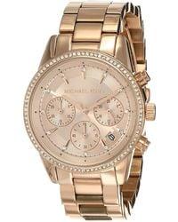 Michael Kors Ritz Rose Gold-tone Watch Mk6357 - Metallic