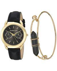 Steve Madden - Quartz Gold-tone Casual Watch, Color:black (model: Smgs001g-bk) - Lyst