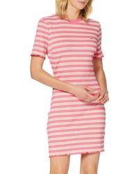 Tommy Hilfiger Tjw Striped Rib Tee Dress Vestito - Rosa