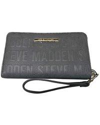 Steve Madden Logo Zip Around Wallet - Grigio