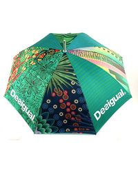 Desigual Umbrella Green Straight