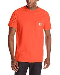 Carhartt - Force Cotton Short Sleeve T-shirt Relaxed Fit - Lyst