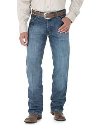 Wrangler Big And Tall Cowboy Silver Edition Regular Fit Boot Cut Jean - Blue