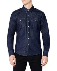 Levi's Barstow Western, Camicia Uomo - Blu