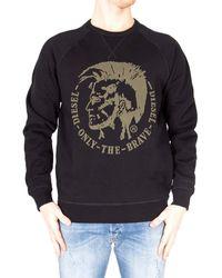 DIESEL S-Orestes-Patch Sweatshirt Farbe: Schwarz/Olive