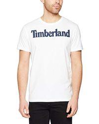 Timberland - Ss Kennebec River Brand Linear Tee T Shirt - Lyst