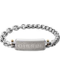 DIESEL Uomo acciaio_inossidabile Bracciale con targhetta DX1193040 - Metallizzato