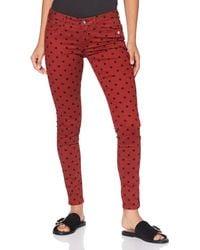 Scotch & Soda Maison La Bohemienne' Skinny Fit Trousers In Organic Cotton Trouser - Red