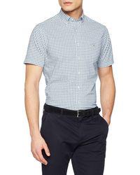 GANT - The Broadcloth Gingham Reg Ss Bd Casual Shirt - Lyst