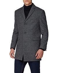 Ben Sherman Grey Overcoat In 38r To 50r
