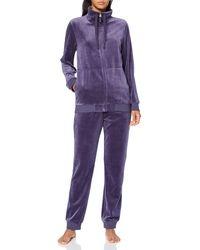 Triumph Sets Ls Velour 02 Pyjama - Purple