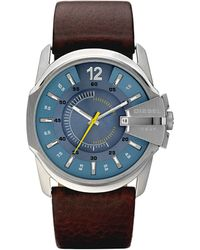 DIESEL Analogique Quartz Montre avec Bracelet en Cuir DZ1399 - Bleu